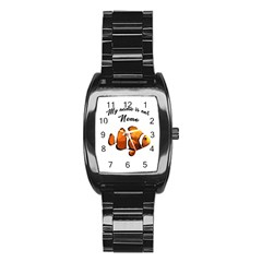 Clown Fish Stainless Steel Barrel Watch by Valentinaart