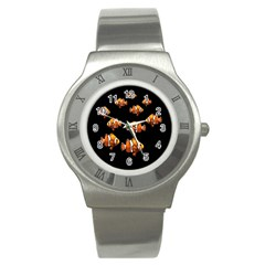 Clown Fish Stainless Steel Watch by Valentinaart