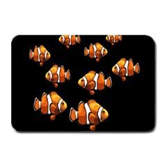 Clown fish Plate Mats by Valentinaart