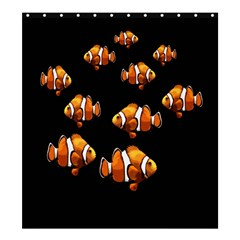 Clown Fish Shower Curtain 66  X 72  (large)  by Valentinaart