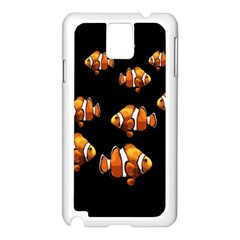 Clown Fish Samsung Galaxy Note 3 N9005 Case (white) by Valentinaart
