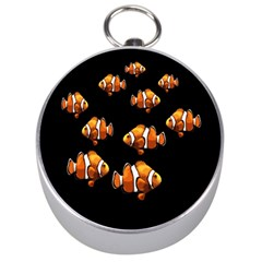 Clown Fish Silver Compasses by Valentinaart