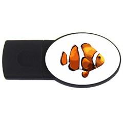 Clown Fish Usb Flash Drive Oval (4 Gb) by Valentinaart