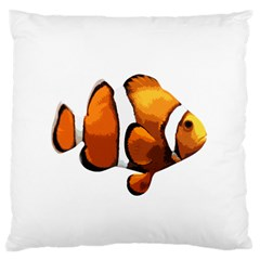 Clown Fish Large Cushion Case (one Side) by Valentinaart