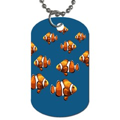 Clown Fish Dog Tag (two Sides) by Valentinaart