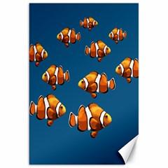 Clown Fish Canvas 20  X 30   by Valentinaart