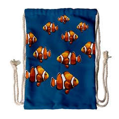 Clown Fish Drawstring Bag (large) by Valentinaart