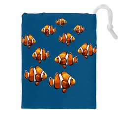 Clown Fish Drawstring Pouches (xxl) by Valentinaart