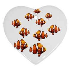 Clown Fish Ornament (heart) by Valentinaart