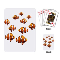 Clown Fish Playing Card by Valentinaart