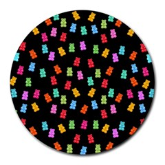 Candy Pattern Round Mousepads by Valentinaart