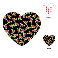 Candy Pattern Playing Cards (heart)  by Valentinaart