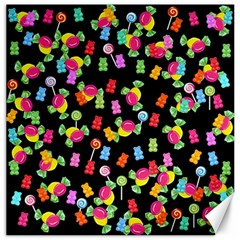 Candy Pattern Canvas 16  X 16   by Valentinaart