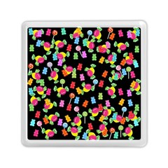 Candy Pattern Memory Card Reader (square)  by Valentinaart
