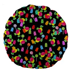 Candy Pattern Large 18  Premium Round Cushions by Valentinaart