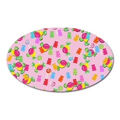 Candy Pattern Oval Magnet by Valentinaart