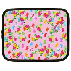 Candy Pattern Netbook Case (large) by Valentinaart