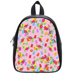 Candy Pattern School Bags (small)  by Valentinaart