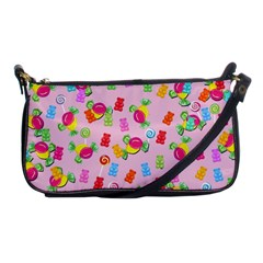 Candy Pattern Shoulder Clutch Bags by Valentinaart