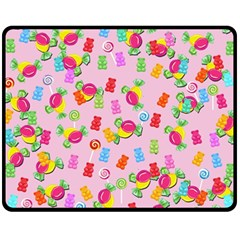 Candy Pattern Fleece Blanket (medium)  by Valentinaart