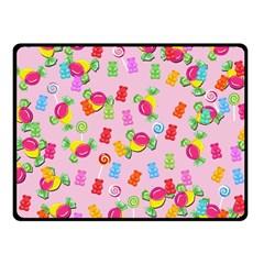 Candy Pattern Fleece Blanket (small) by Valentinaart