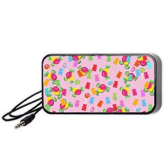 Candy Pattern Portable Speaker (black) by Valentinaart