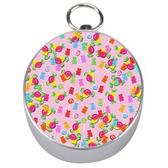 Candy Pattern Silver Compasses by Valentinaart