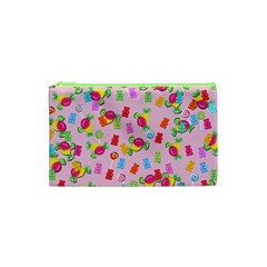 Candy Pattern Cosmetic Bag (xs) by Valentinaart