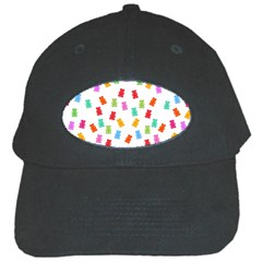 Candy Pattern Black Cap by Valentinaart