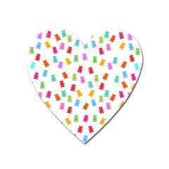 Candy Pattern Heart Magnet by Valentinaart