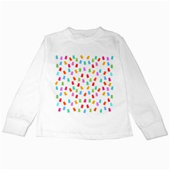 Candy Pattern Kids Long Sleeve T Shirts by Valentinaart