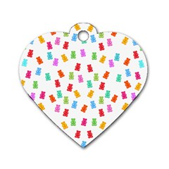 Candy Pattern Dog Tag Heart (two Sides) by Valentinaart