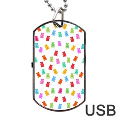 Candy Pattern Dog Tag Usb Flash (one Side) by Valentinaart