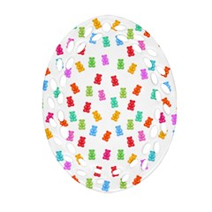 Candy Pattern Ornament (oval Filigree) by Valentinaart