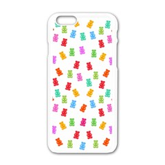Candy Pattern Apple Iphone 6/6s White Enamel Case by Valentinaart