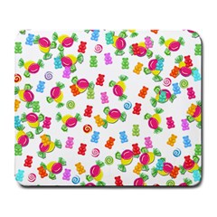 Candy Pattern Large Mousepads by Valentinaart