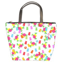Candy Pattern Bucket Bags by Valentinaart
