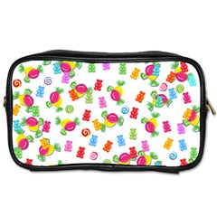 Candy Pattern Toiletries Bags 2 Side by Valentinaart