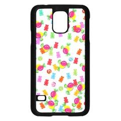 Candy Pattern Samsung Galaxy S5 Case (black) by Valentinaart