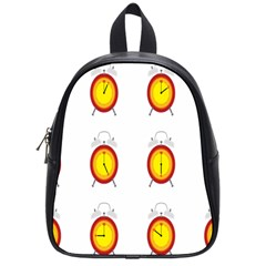 Alarm Clock Time Circle Orange Hour School Bags (small)  by Mariart