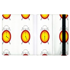 Alarm Clock Time Circle Orange Hour Apple Ipad 3/4 Flip Case by Mariart