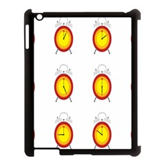 Alarm Clock Time Circle Orange Hour Apple Ipad 3/4 Case (black) by Mariart