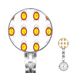Alarm Clock Time Circle Orange Hour Stainless Steel Nurses Watch by Mariart