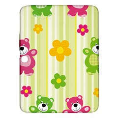 Animals Bear Flower Floral Line Red Green Pink Yellow Sunflower Star Samsung Galaxy Tab 3 (10 1 ) P5200 Hardshell Case  by Mariart