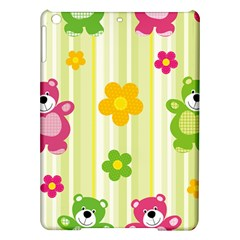 Animals Bear Flower Floral Line Red Green Pink Yellow Sunflower Star Ipad Air Hardshell Cases by Mariart
