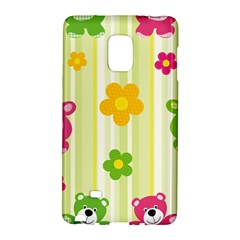 Animals Bear Flower Floral Line Red Green Pink Yellow Sunflower Star Galaxy Note Edge by Mariart