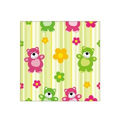 Animals Bear Flower Floral Line Red Green Pink Yellow Sunflower Star Satin Bandana Scarf by Mariart