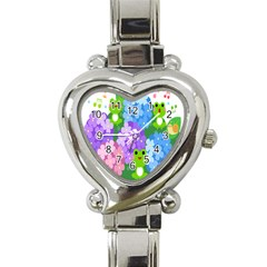 Animals Frog Face Mask Green Flower Floral Star Leaf Music Heart Italian Charm Watch by Mariart