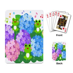 Animals Frog Face Mask Green Flower Floral Star Leaf Music Playing Card by Mariart