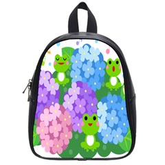 Animals Frog Face Mask Green Flower Floral Star Leaf Music School Bags (small)  by Mariart